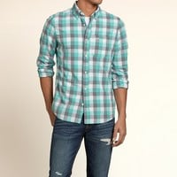 Turquoise and Grey Check Shirt