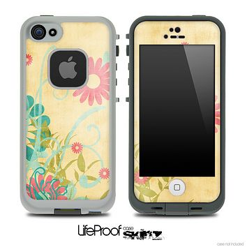 Vintage Flowerland Pattern Skin for the iPhone 5 or 4/4s LifeProof Case
