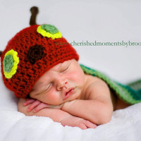Hungry Caterpillar Photo Prop Newborn by MySweetPotato3 on Etsy