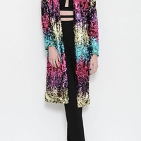 Rainbow Room Sequin Duster Jacket