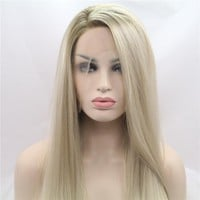 Synthetic Lace Front Long Silky Women's Wig