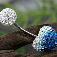 Austria crystal handmade Belly button ring,earrings