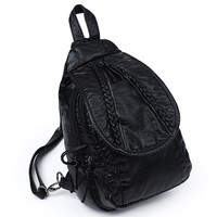 Casual Comfort Back To School College On Sale Hot Deal Stylish Rinsed Denim Soft England Style Ladies Backpack [4982892676]