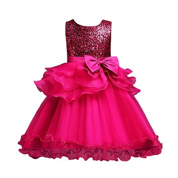 Flower Girl Princess Bridesmaid Pageant Gown Birthday Party Dress