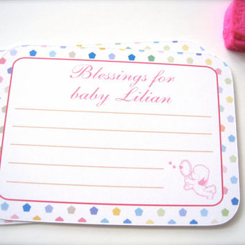 Best wishes for baby cards, baby shower cards, baptism cards - 25 count