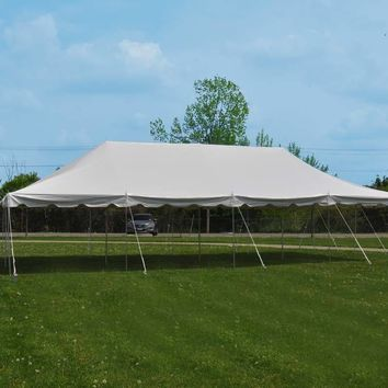 20x40' Standard Canopy Pole Tent White Wedding Event Party Weekender Gazebo