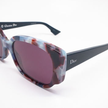 Dior Night 2 RJAC6 Havana Light Blue Sunglasses