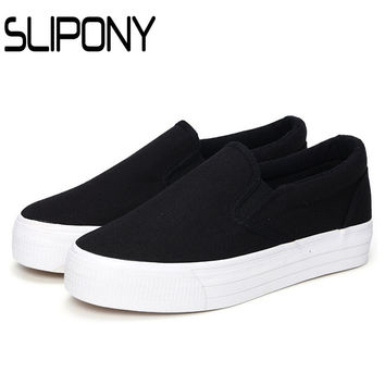 2016 3cm platform women shoes thick sole woman casual shoes canvas shoes