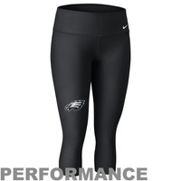 Nike Philadelphia Eagles Ladies Performance Capri Pants - Black