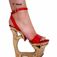 "Make Your Own Wood Platform Shoes Whale Tail 7"" Or 5"" High Heels"
