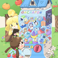 "Animal Crossing Gachapon 11x17"" Print"