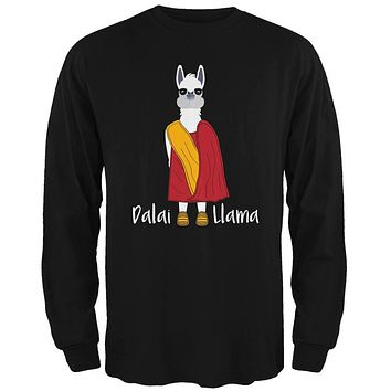 Funny Dalai Lama Llama Pun Mens Long Sleeve T Shirt