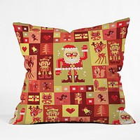 Chobopop Christmas Pattern Nr 2 Throw Pillow