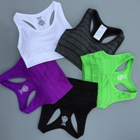 Sport Suit Fitness Sportswear Stretch Exercise Yoga  Top Women Tank Vest _ 2161