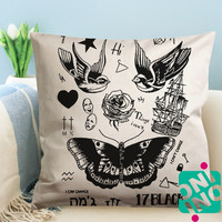 Harry Styles Tattoo Zippered Pillow Case, Cushion Case, Pillow case