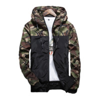 Camo Sunset Windbreaker