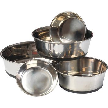 House of Paws HP609M Stainless Steel Dog Bowl with Silicon Base (M)