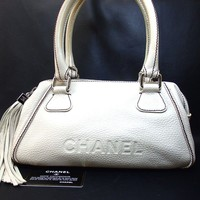 Authentic CHANEL Tassel Handbag Leather[Used]