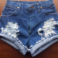 Size 4 High Waisted Jean Shorts