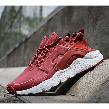 """NIKE"" Air Huarache Casual Running Sport Shoes Sneakers Red"
