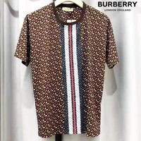 Burberry Tide brand classic TB letter stripe print casual sports wild short-sleeved T-shirt