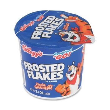 keebler cereal-in-a-cup, super size, 2.1 oz., 6/pk, frosted flakes Case of 3