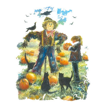 Thanksgiving T-Shirt Autumn or Fall Shirt featuring the Thanksgiving Friendly Scarecrow Great gift Idea