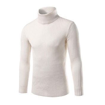 2017 Winter Mens Sweaters and Pullovers Men Turtle Neck Brand Sweater Male Outerwear Jumper Knitted Turtleneck Sweaters M-XXL