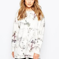 Just Female Misery Sweatshirt in Marble Print