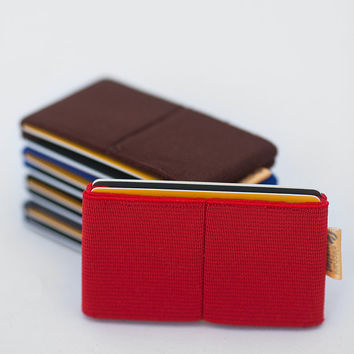 Woman wallet, credit card holder, men and wommen elastic wallet , slim minimalist , modern design