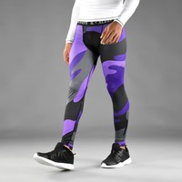 Purple Juice Camo Tights for men