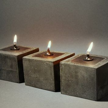SET of 3 - FREE SHIPPING - Cowboy Zen Oil Lamps
