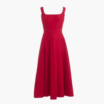 Pleated A-line dress in faille
