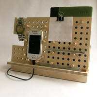 Phone holder, tablet holder, ipad stand, phone stand, gift for him, phone dock station