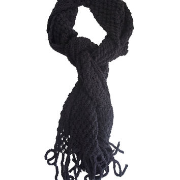 Dotted Texture Knit Scarf | Wet Seal