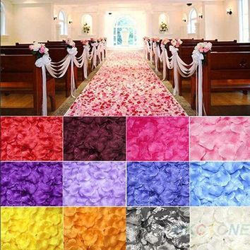 PEAPUG3 100pcs Chic Silk Rose Flower Petals Leaves Wedding Party Table Decorations  JK = 1931978116