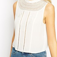 ASOS Sleeveless Embroidered Top