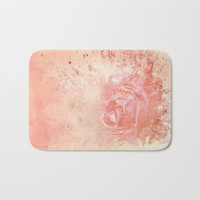 Rose Colored Splashes Bath Mat by Theresa Campbell D'August Art