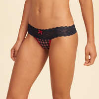 Girls Gilly Hicks Lace Thong | Girls New Arrivals | HollisterCo.com