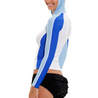 Rash Guard Hoodie, Swim Tee Shirts, Long Sleeve
