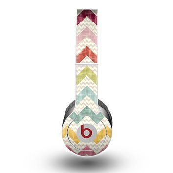 The Vintage Summer Colored Chevron V4 Skin for the Beats by Dre Original Solo-Solo HD Headphones