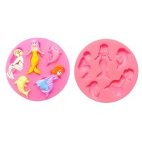 Mermaid Shape Hands Shape 3D Silicone Cake Mold, Cartoon Figre/cake tools Soap Mold Cake Decoration
