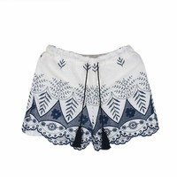 Womens Embroidery Bohemian Shorts