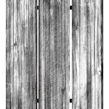 "Screen Gems Distressed Wood Canvas Screen 72"" Room Divider"