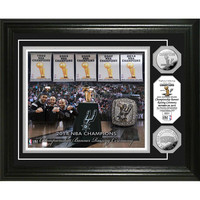 San Antonio Spurs 2014 NBA Champions inBanner Raisingin Silver Coin Photo Mint