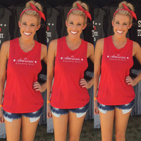 """All American Country Girl"" Women's Muscle Tank"
