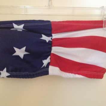 American Flag Bandeau with Padding