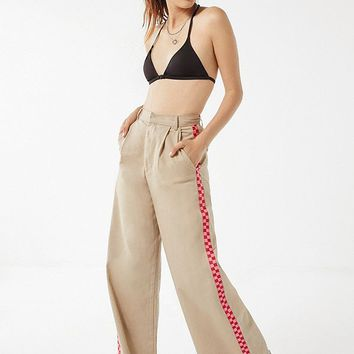Lazy Oaf Checkered Wide-Leg Cargo Pant | Urban Outfitters