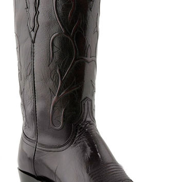 Lucchese Heritage Mens Black Cherry Buffalo Boots N1653