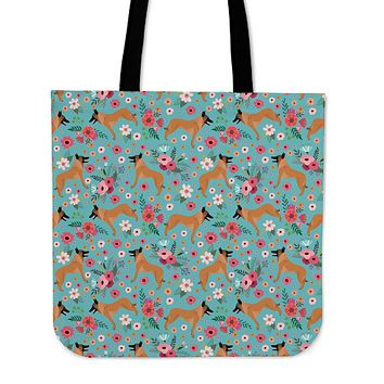 Belgian Malinois Flower Linen Tote Bag-Clearance
